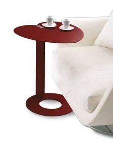 WHITE LABEL - bout de canapé coeur design rouge marsala. - Bout De Canapé