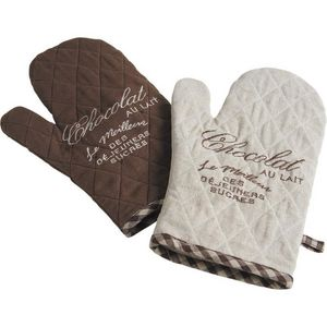 Aubry-Gaspard - lot de 2 gants de cuisine - Gant De Four