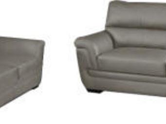 WHITE LABEL - ensemble canapé 3+2 places design coloris gris tau - Salon