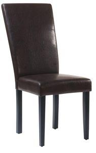 COMFORIUM - lot de 2 chaises modernes coloris brun - Chaise