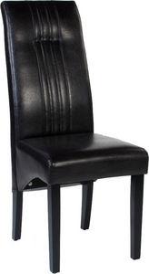 COMFORIUM - lot de 2 chaises en simili cuir coloris noir desig - Chaise