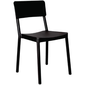 COMFORIUM - lot de 4 chaises empilables de coloris noir - Chaise