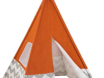 KidKraft - tente tipi orange pour enfant 109x176cm - Tente Enfant