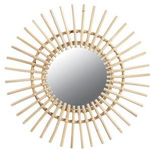Aubry-Gaspard - miroir rotin soleil - Miroir