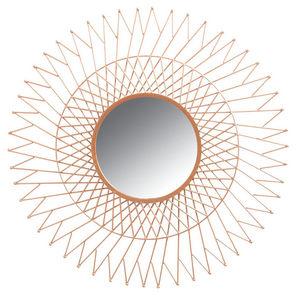 Aubry-Gaspard - miroir soleil en métal cuivré - Miroir