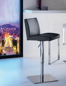 WHITE LABEL - chaise de bar maxim design noir - Chaise Haute De Bar