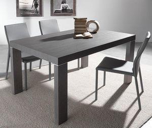 WHITE LABEL - table repas extensible wind design wengé 120 cm - Table De Repas Rectangulaire