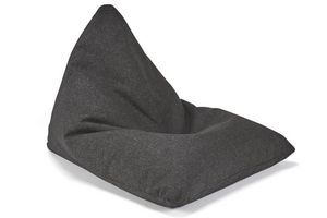 INNOVATION - innovation pouf design soft peak noir twist black - Pouf Poire