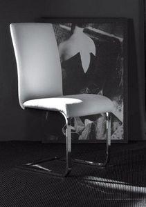 WHITE LABEL - chaise kant design en simili cuir blanc - Chaise