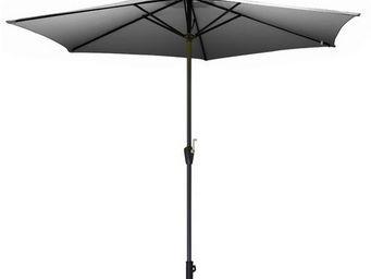 PROLOISIRS - parasol rond 3m toile polyester gris - Parasol