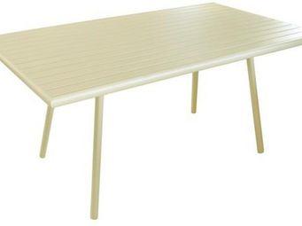 PROLOISIRS - table de jardin menu nacre 160cm nacre - Table De Jardin