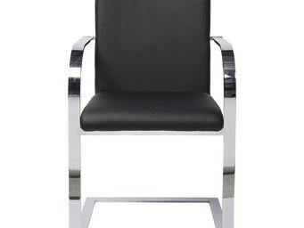 Kare Design - chaise avec accoudoirs canto noir - Chaise
