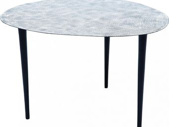 Kare Design - table de salon egg white & black 56x62cm - Table Basse Forme Originale
