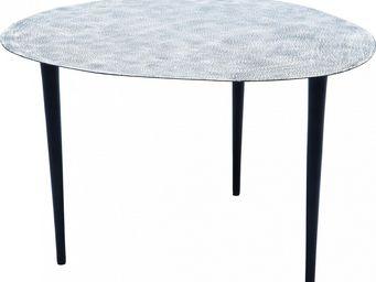 Kare Design - table de salon egg white & black 56x62cm - Table Basse Forme Originale