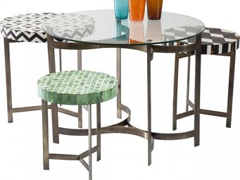 Kare Design - table basse ronde musivo round 4/set - Table Basse Ronde