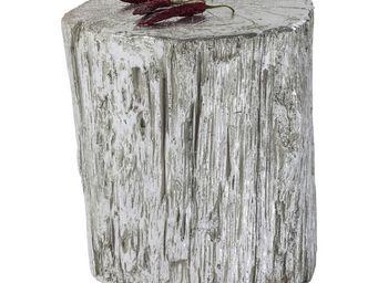 Kare Design - tabouret tronco argenté 40 cm - Pouf