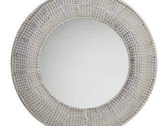 Kare Design - miroir silver pearls 100 cm - Miroir