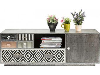 Kare Design - meuble tv chalet 1 porte, 5 tiroirs - Meuble Tv Hi Fi