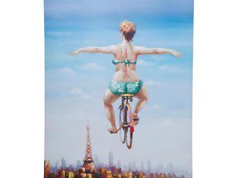 Kare Design - tableau touched bicycle girl 120x160 - Tableau Décoratif