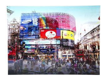 Kare Design - tableau en verre piccadilly circus 120x160 - Tableau D�coratif