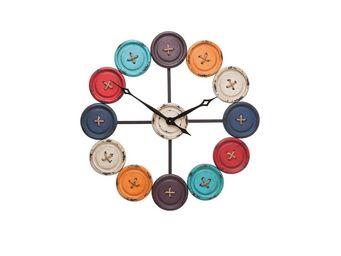 Kare Design - horloge buttons - Horloge Murale