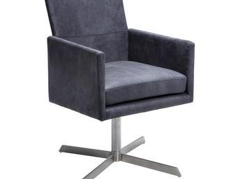Kare Design - fauteuil pivotant dialog anthracite - Fauteuil Rotatif