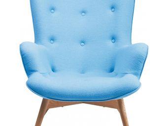 Kare Design - fauteuil retro angels wings bleu - Fauteuil
