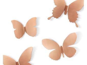 Umbra - déco murale papillons métal (lot de 9) - Décoration Murale