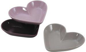 Aubry-Gaspard - ravier coeur en céramique (lot de 3) - Ramequin