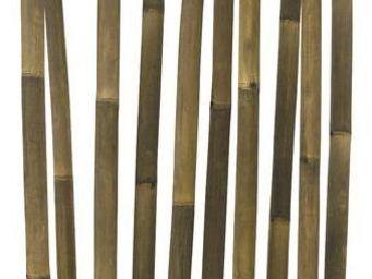 Aubry-Gaspard - paravent bambou améa noir - Paravent