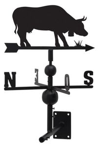 Aubry-Gaspard - girouette vache en fer forgé 97x47x47cm - Girouette