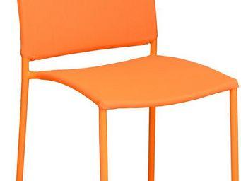 PROLOISIRS - chaise de jardin design bonbon (lot de 6) orange - Fauteuil De Jardin
