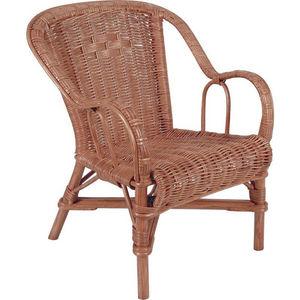 Aubry-Gaspard - fauteuil enfant en rotin miel - Fauteuil