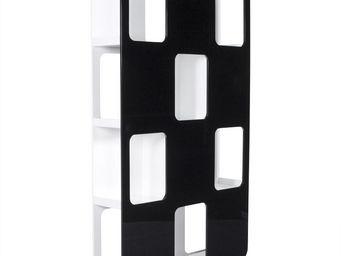 KOKOON DESIGN - bibliothèque design noir et blanc double face - Bibliothèque Ouverte