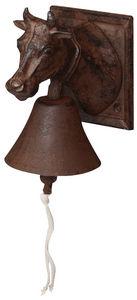 Esschert Design - cloche de porte fonte tête vache - Cloche D'extérieur