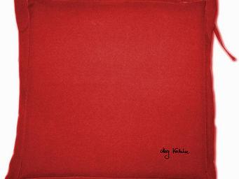 PROLOISIRS - coussin extérieur galette 40cm rouge - Galette De Chaise