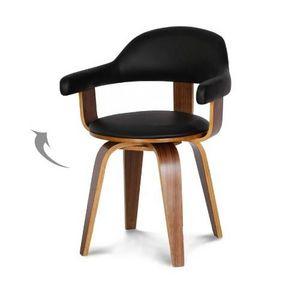 Demeure et Jardin - chaise design scandinave rotative noire pyörivä - Chaise