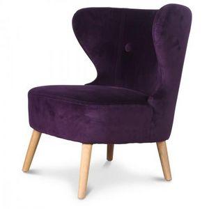 Demeure et Jardin - fauteuil crapaud design scandinave aubergine kokün - Fauteuil