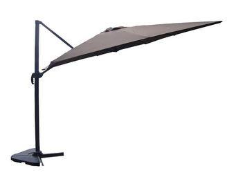 WHITE LABEL - parasol rotatif chocolat 3*4 m - bronze - l 300 x  - Parasol Excentré