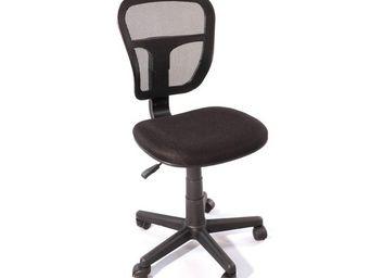 TOUSMESMEUBLES - chaise de bureau noir - hispa - l 47 x l 41 x h 81 - Chaise De Bureau