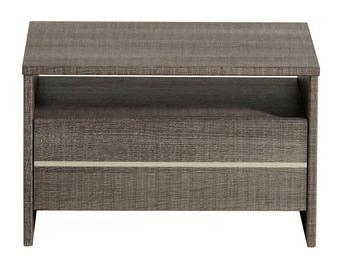 WHITE LABEL - table de chevet 1 tiroir chêne gris - sleep - l 48 - Table De Chevet
