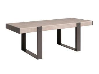 WHITE LABEL - table de repas chêne délavé - barker - l 224 x l 9 - Table De Repas Rectangulaire