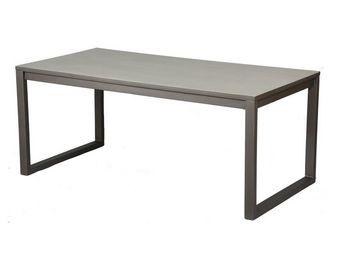 WHITE LABEL - table de repas - anthros - l 180 x l 90 x h 75 - b - Table De Repas Rectangulaire