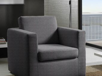 WHITE LABEL - fauteuil fixe dreamer tweed graphite - Fauteuil