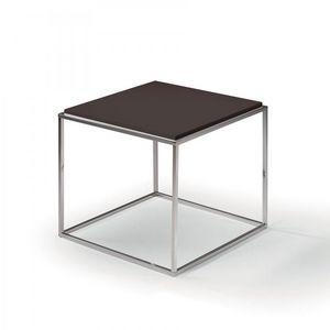 WHITE LABEL - bout de canapé carré mimi chocolat - Bout De Canapé