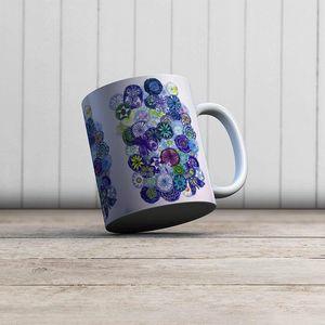 la Magie dans l'Image - mug jardin bleu - Mug