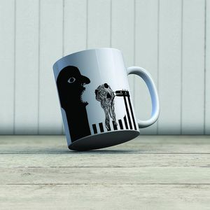 la Magie dans l'Image - mug ogre ogre spaghettis noir & blanc - Mug