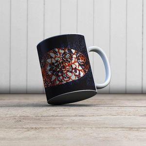 la Magie dans l'Image - mug poisson batik bleu - Mug