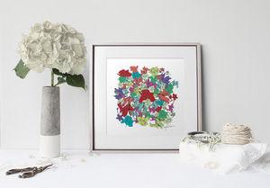la Magie dans l'Image - print art fleurs motifs - Estampe