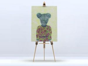 la Magie dans l'Image - toile ma petite souris fond fluo - Impression Numérique Sur Toile